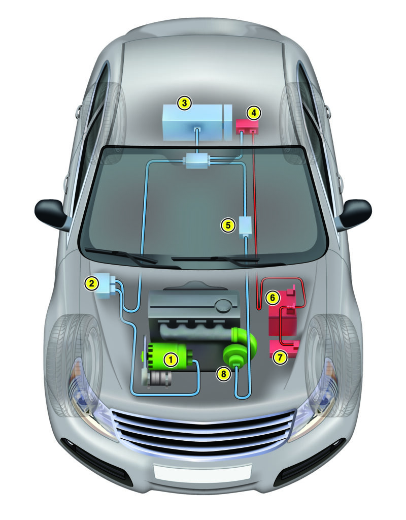 mild hybrid vehicle diagram